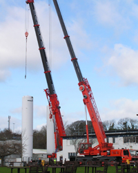 Cranes hired under CPA Contract Lift terms.
